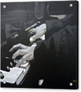 Piano Hands Acrylic Print