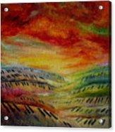 Piano Key Dusk Acrylic Print
