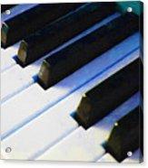Piano Keys . V2 . Blue Acrylic Print