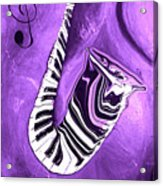 Piano Keys In A Saxophone Purple - Music In Motion Acrylic Print