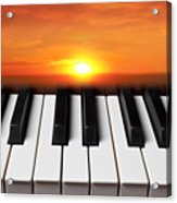 Piano Sunset Acrylic Print by Garry Gay