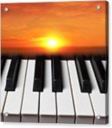 Piano Sunset Acrylic Print