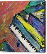 Piano With Yellow Acrylic Print by Anita Burgermeister