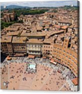 Piazza Del Camp In The Center Acrylic Print by Joel Sartore