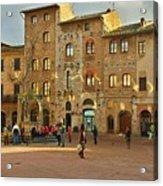 Piazza Della Cisterna Acrylic Print