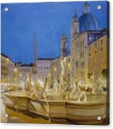 Piazza Navona, Rome Acrylic Print