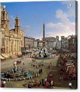 Piazza Novona - Rome Acrylic Print