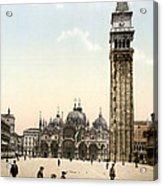 Piazza San Marco, 1890s Acrylic Print