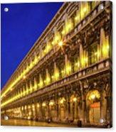 Piazza San Marco By Night Acrylic Print