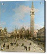 Piazza San Marco Looking Towards The Basilica Di San Marco  Acrylic Print