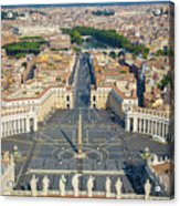 Piazza San Pietro Acrylic Print