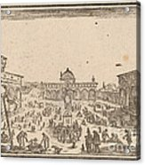 Piazza Ss. Annunziata, Florence Acrylic Print