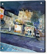 piazza Stesicoro at night Acrylic Print
