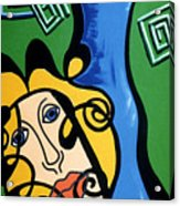 Picasso Influence With A Greek Twist Acrylic Print