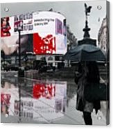 Piccadilly In The Rain Acrylic Print