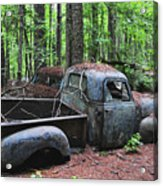 Pick Up Truck In The Woods Acrylic Print