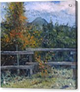 Picket Fence Near Heidelberg Western Cape South Africa Acrylic Print
