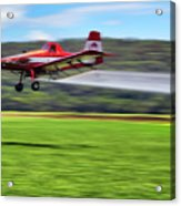 Picking It Up And Putting It Down - Crop Duster - Arkansas Razorbacks Acrylic Print