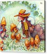 Picking Mushrooms Acrylic Print