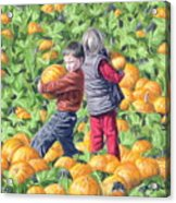 Picking Pumpkins Acrylic Print