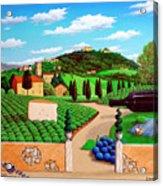Picnic In Tuscany Acrylic Print