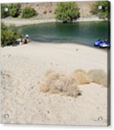 Picnic On Lake Mohave Acrylic Print
