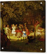 Picnic Party In The Woods Acrylic Print