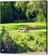 Picnic Table Acrylic Print