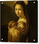 Picture Of A Young Girl Acrylic Print by Govaert Flinck