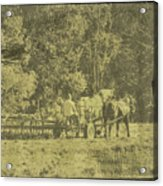 Picture Of Amish Boy In Book Acrylic Print
