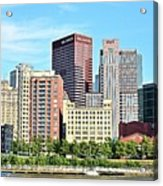 Picture Perfect Pittsburgh Panoramic Acrylic Print