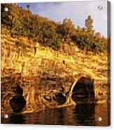 Pictured Rocks Caves Acrylic Print