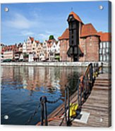 Picturesque City Of Gdansk In Poland Acrylic Print