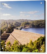 Picturesque Hydroelectric Dam Acrylic Print