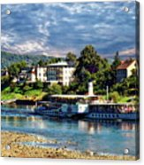 Picturesque River Cruise Acrylic Print