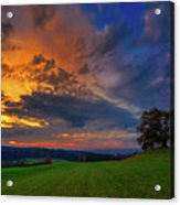Picturesque Rural Sunset Acrylic Print