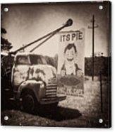 Pie Town Sepia Acrylic Print