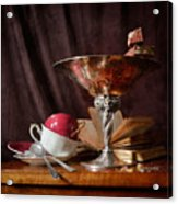 Piece Of Wafer In Chocolate Acrylic Print