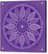 Pieces In Purple Acrylic Print
