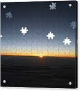Piecing  Together A New Day Acrylic Print