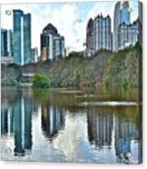 Piedmont Park Atlanta Reflection Acrylic Print