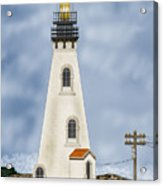 Piedras Blancas Lighthouse In California Acrylic Print by Anne Norskog