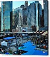 Pier 17 Blue Tops Acrylic Print