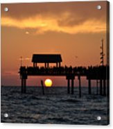 Pier 60 Clearwater Beach - Watching The Sunset Acrylic Print