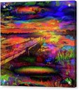 Pier At Sunset Acrylic Print