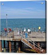 Pier Fishing At Llandudno Acrylic Print
