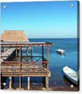Pier In Champoton, Mexico Acrylic Print