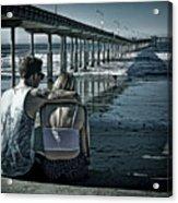 Pier Love Acrylic Print