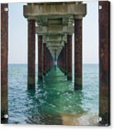 Pier On The Outer Banks Acrylic Print