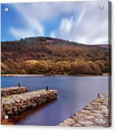 Pier On The Upper Lake In Glendalough - Wicklow, Ireland Acrylic Print